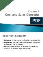 Ch 1 Cost & Sales Concept
