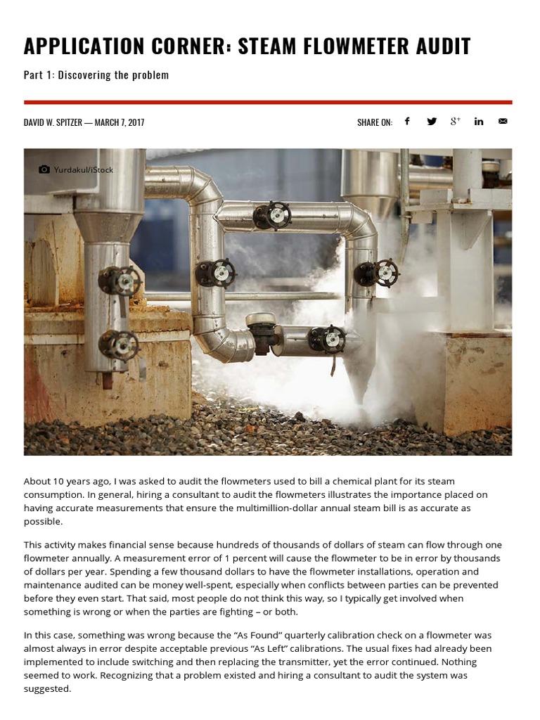 Steam Flow Meter Audit | Flow Measurement | Automation