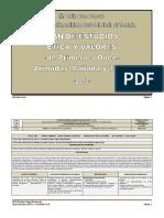 PLAN de ESTUDIOS Etica y Valores de Primero a Once-2013