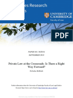 Private Law at the Crossroads - Is There a Right Way Forward