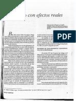 Puente El Contrato y Los Efectos Reales