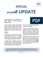 Special RNM Update (the Outcome of the Energy Services Sector Consultation) 2009-02-27