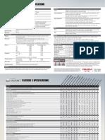 Isuzu D-MAX Specification Sheet