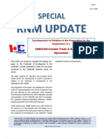 Special RNM Update (Developments in Relation to the Preparation for the Negotiation of a CARICOM-Canada Trade & Development Agreement) 2009-06-09