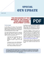 Special OTN Update (the Discussions of the 28th Meeting of COTED) 2009-10-17