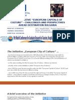 The Initiative  European Capital of Culture