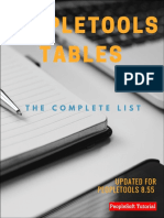 Complete List of PeopleTools Tables v1