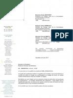 Courrier du cabinet Uyttendaele