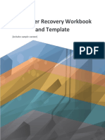 It Disaster Recovery Workbook and Template