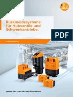 Rückmeldesysteme für Hubventile und Schwenkantriebe 2017