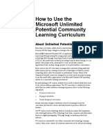 How to Use UP Curriculum