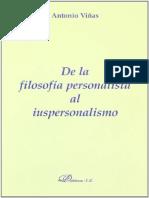 Antonio Viñas Otero- De La Filosofía Personalista Al Impersonalismo