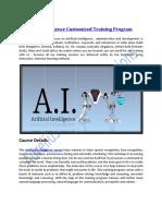 Artificial Intelligence Customized Training Program