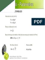 Formulas para el Torneado