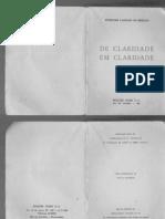Eurípides Cardoso de Menezes - De Claridade Em Claridade