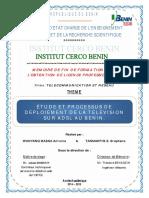 Etude Et Processus de Déploiement de La Télévision Sur ADSL AU BENIN.