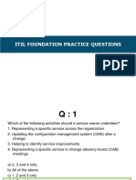 Itil Foundation Practice Questions
