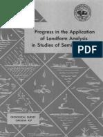 Progress in the Application of Landform Analysis in Studies of Semiarid Erosion_1961