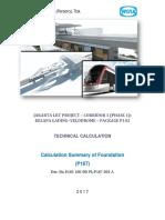 Calculation Summary of Pile Foundation