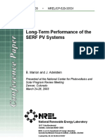 Long-Term Performance of the SERF PV Sys