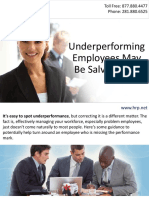 Underperforming Employees May Be Salvageable
