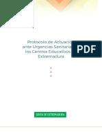 Protocolo Urgencias en Centros Educativos