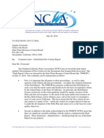 NorCal Water Assoc Letter Re Delta Flow Criteria Report