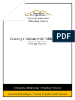 Creating a Website With Publisher