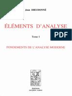 Jean Dieudonné - Eléments d'Analyse 1