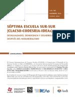 Convocatoria IDEAS CLACSO CODESRIA Escuela de Verano 2014