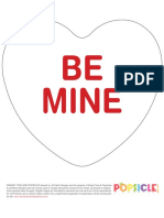 DIY Converstion Heart Banner Valentine1