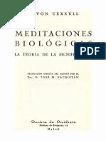 Von Uexkull J - Meditaciones Biologicas - La Teoria de La Significacion