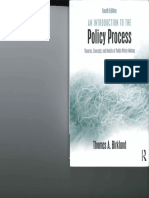 Birkland - Intro to Policy Process - Ch. 10 and 11