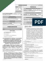Ley que modifica el artículo 1 del Decreto Legislativo 1251 Decreto Legislativo que modifica el Decreto Legislativo Nº 1224 Ley Marco de Promoción de la Inversión Privada mediante Asociaciones Público Privadas y Proyectos en Activos