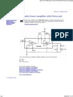 4W Audio Power Amplifier With TDA1013B