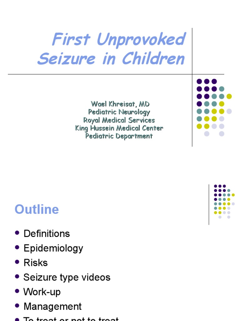 first unprovoked seizure in children | epilepsy | neurological disorders