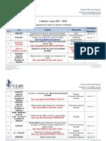 Calendar Cazare 2017 - 2018