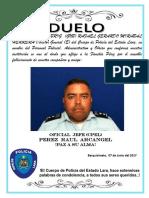 Obituario Oficial Jefe Perez Raul