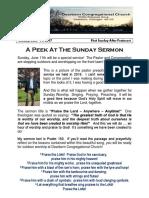 Pastor Bill Kren's Newsletter - June 11, 2017