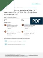 Adaptación Española Del BDI-II en Pacientes Con Trastornos Psicológicos
