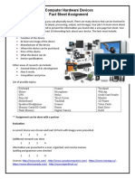 computer hardware devices facts sheet
