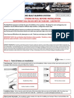 Jeep TJ/LJ/YJ/CJ MetalCloak Frame-Built Bumper Instructions