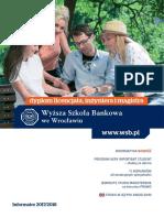 Informator 2017 - Studia I Stopnia - Wyższa Szkoła Bankowa We Wrocławiu