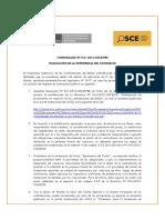 Comunicado Nº 013-2012 Experiencia de Consorcios