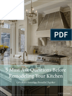 5 Must Ask Questions Before Remodeling Your Kitchen