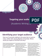 AW1 - 2. Targeting Your Audience