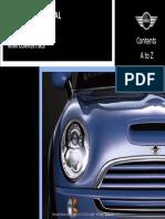 33413088 MINI Cooper Service Manual 2002 2006 Table of Contents