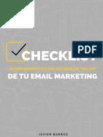 Checklist El Estado de Tu Email Marketing