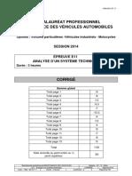 4804 Elements de Corrige Bac Pro Mva Metropole Reunion Antilles Juin 2014