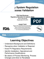 Qsr Process Validation
